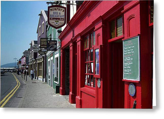 Murphys Bed And Breakfast Dingle Ireland Greeting Card