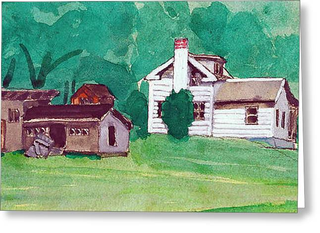 Murray Hill Watercolor Greeting Card by Fred Jinkins