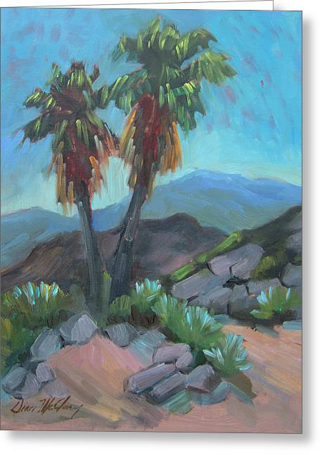 Greeting Card featuring the painting Murray Trail Andreas Canyon by Diane McClary