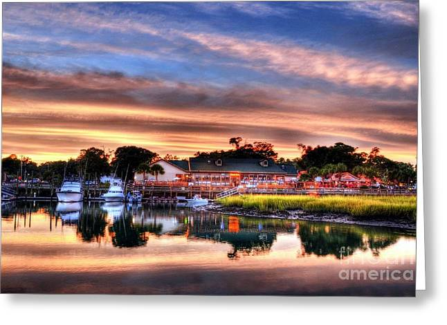 Greeting Card featuring the photograph Murrells Inlet Sunset 3 by Mel Steinhauer