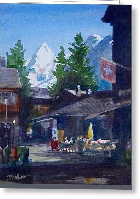 Murren Switzerland Afternoon Greeting Card by Duane Barnhart