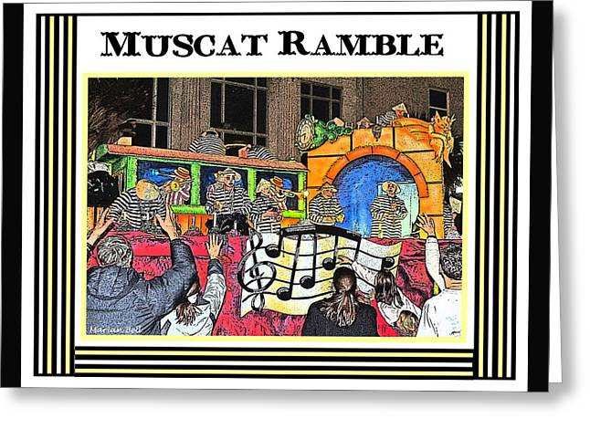 Muscat Ramble Poster Greeting Card by Marian Bell