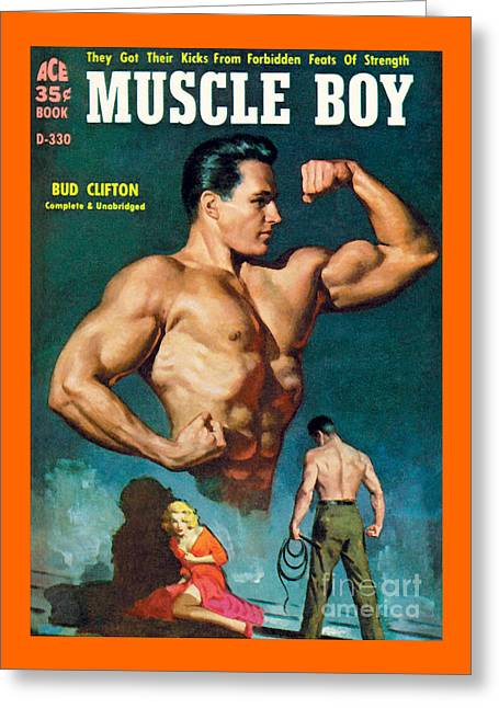 Muscle Boy Greeting Card