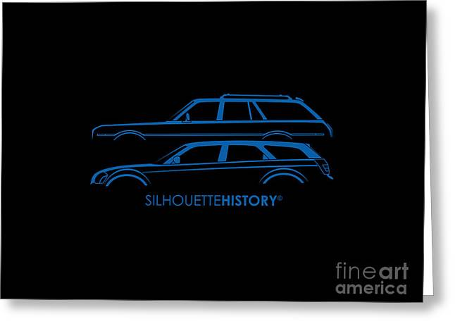 Muscle Wagon Silhouettehistory Greeting Card