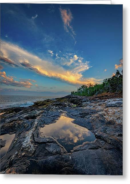 Muscongus Bay Reflections Greeting Card