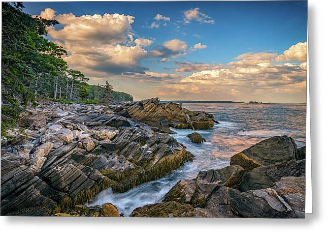 Muscongus Bay Greeting Card by Rick Berk