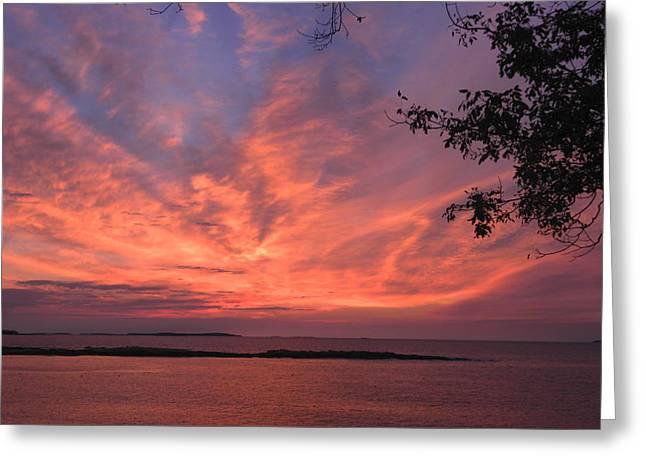 Muscongus Sound Sunrise Greeting Card
