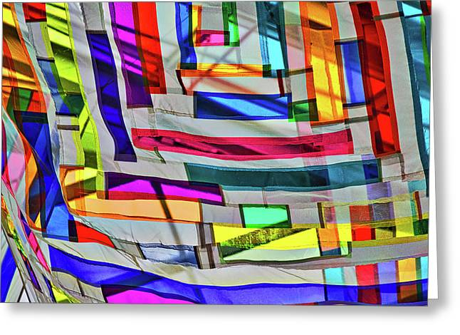 Museum Atrium Art Abstract Greeting Card by Stuart Litoff
