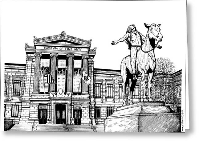 Museum Of Fine Arts Boston Greeting Card by Conor Plunkett