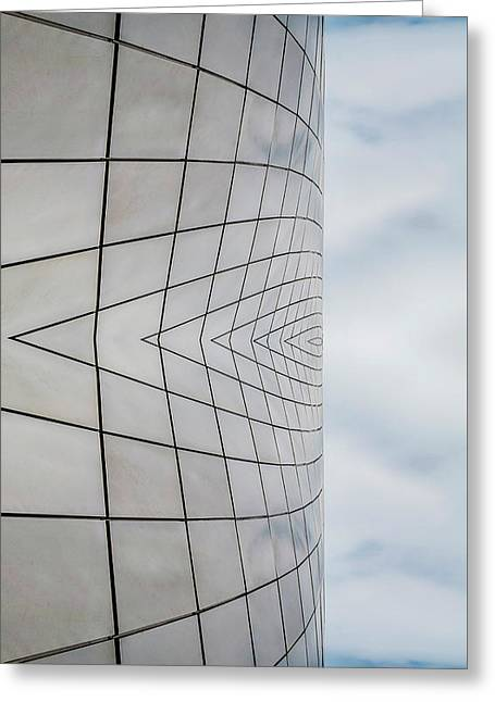 Museum Of Glass Reflection Greeting Card by Pelo Blanco Photo