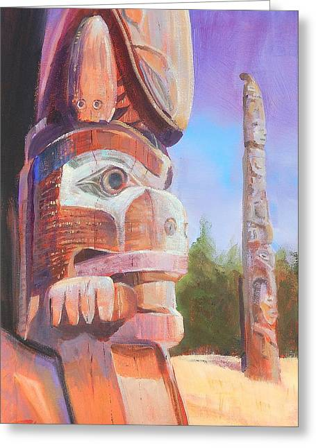 Museum Of Man Greeting Card by Ron Wilson