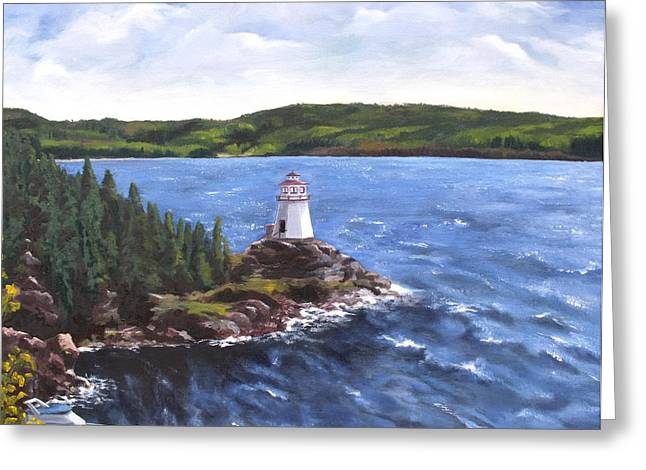 Musgravetown Lighthouse Greeting Card