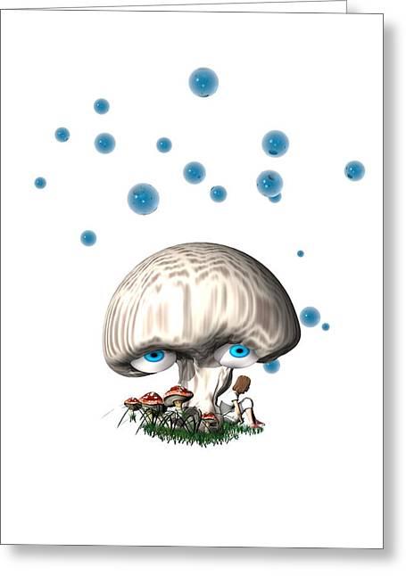 Mushroom Dreams Greeting Card by Carol and Mike Werner