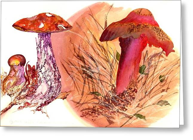 Mushroom Family Greeting Card