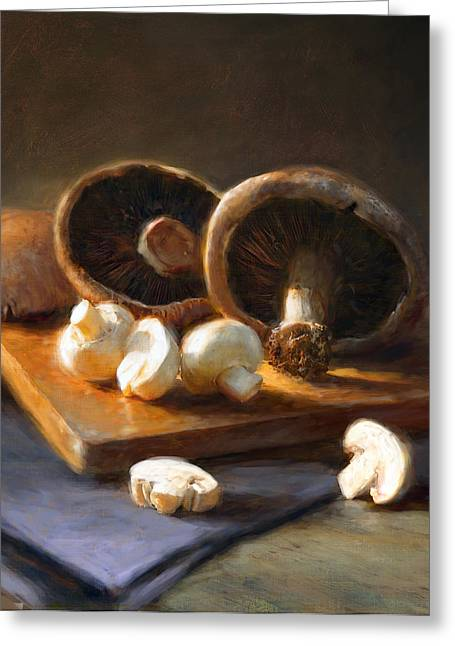 Mushrooms Greeting Card by Robert Papp