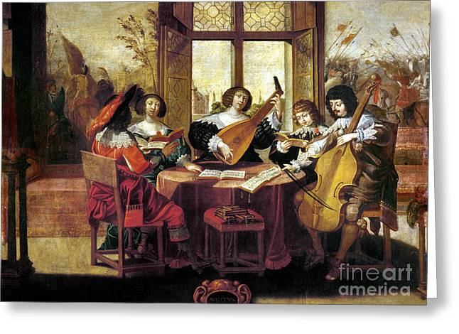 Music, 17th Century Greeting Card by Granger
