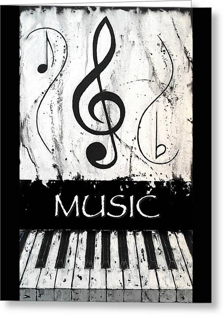 Music 6 - Music In Motion Greeting Card