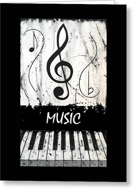Music 8 - Music In Motion Greeting Card