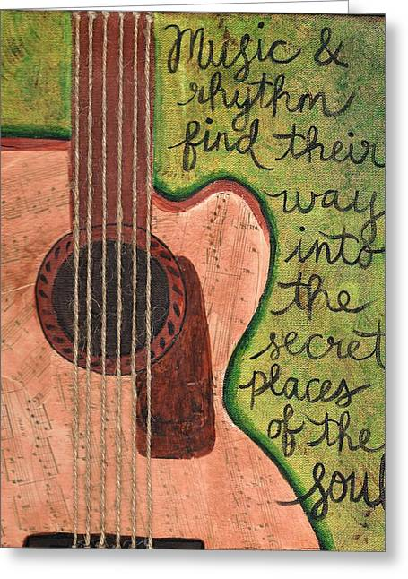 Music And Rhythm Greeting Card