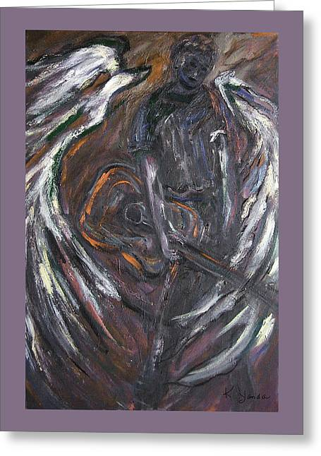 Music Angel Of Broken Wings Greeting Card