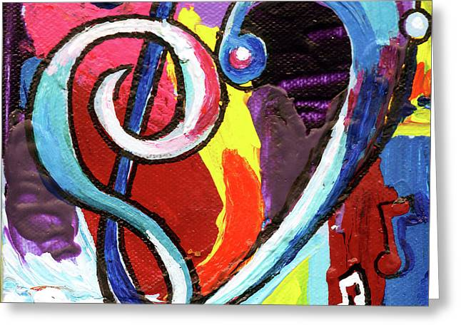 Music Art With Heart Greeting Card by Genevieve Esson