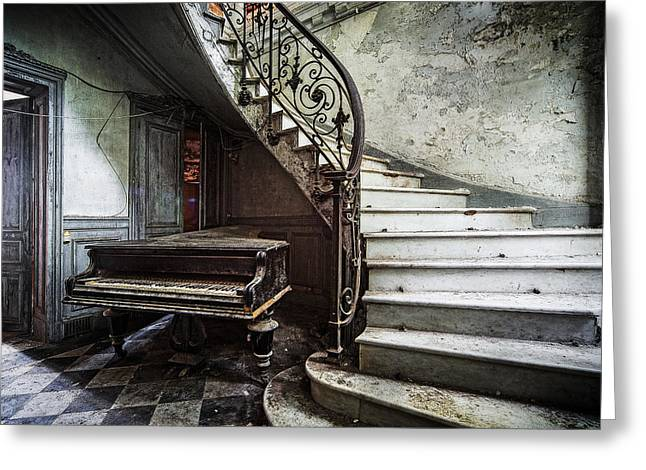 Music At Lost Places Old Abandoned Piano Greeting Card by Dirk Ercken