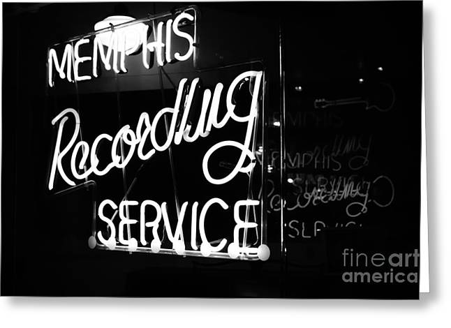 Music City Memphis Greeting Card by Kathleen White