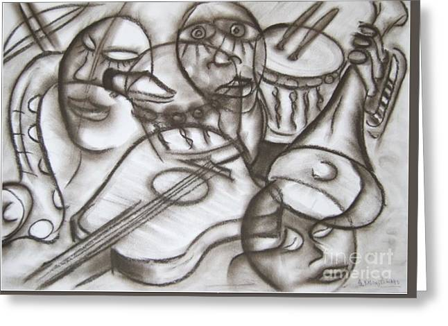 Music Dreams And Illusions Greeting Card