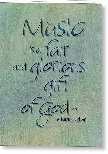 Music Gift Greeting Card by Judy Dodds