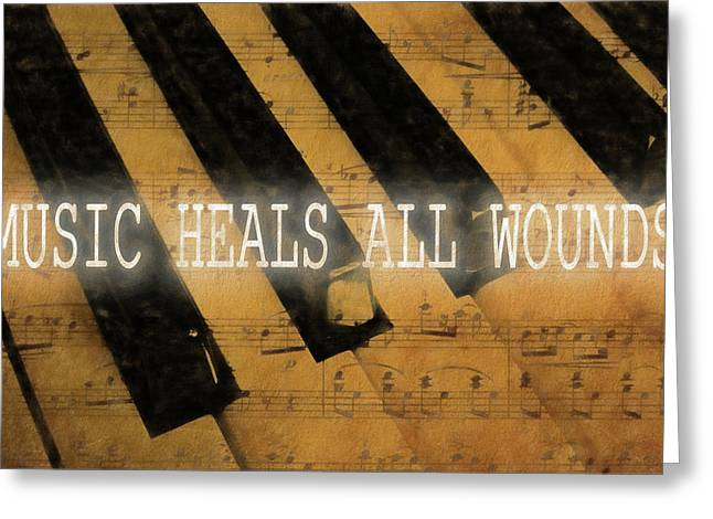 Music Heals All Wounds Greeting Card by Dan Sproul