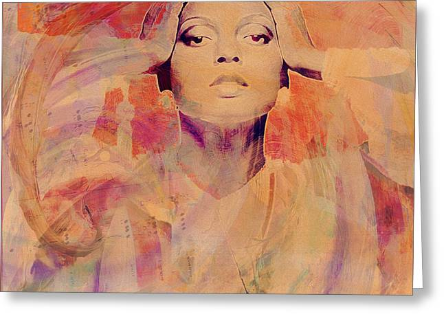 Music Icons - Diana Ross Il Greeting Card