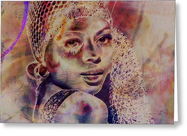 Music Icons - Diana Ross Iv Greeting Card