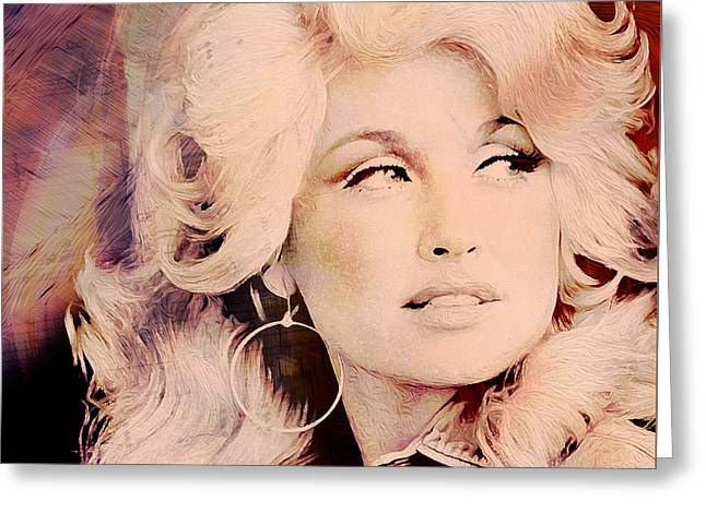 Music Icons - Dolly Parton I Greeting Card by Joost Hogervorst
