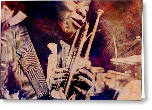 Music Icons - Louis Armstrong Iv Greeting Card