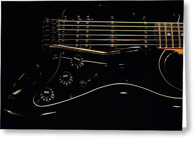 Music In Black Greeting Card by Leland D Howard