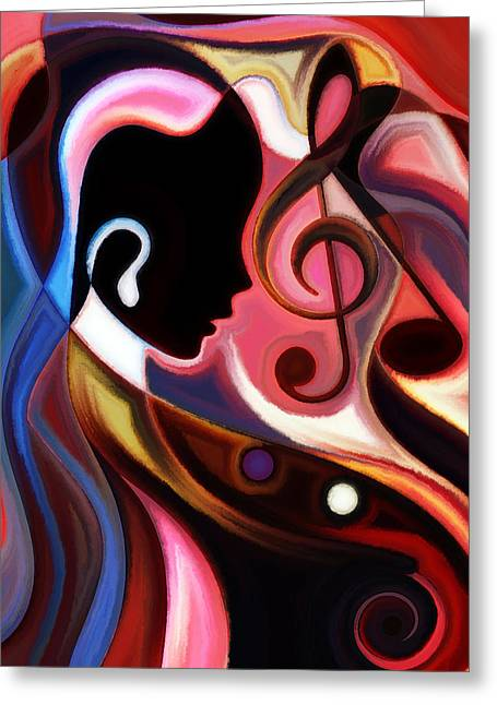 Music In The Air Greeting Card by Karen Showell