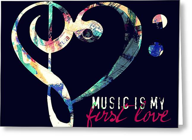 Music Is My First Love Greeting Card by Brandi Fitzgerald