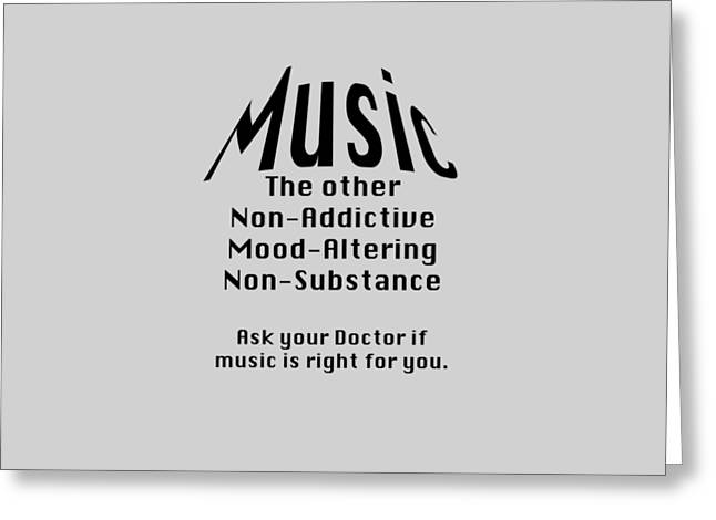 Music Is Right For You 5502.02 Greeting Card