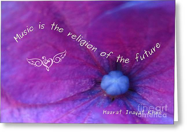 Music Is The Religion Of The Future Greeting Card
