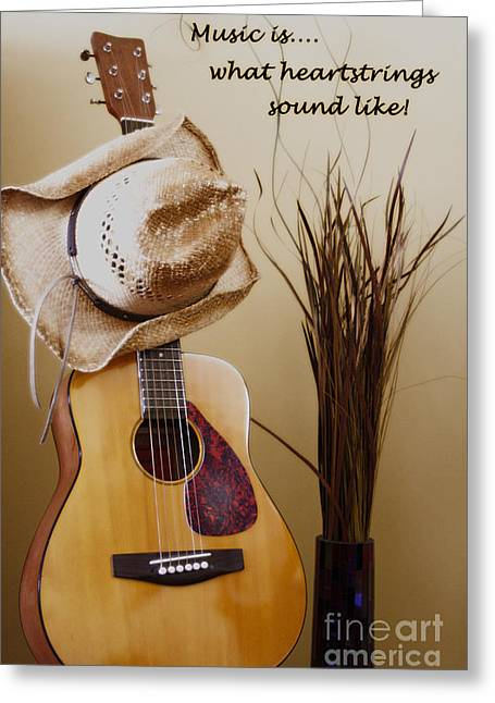 Music Is What Heartstrings Sound Like  Greeting Card