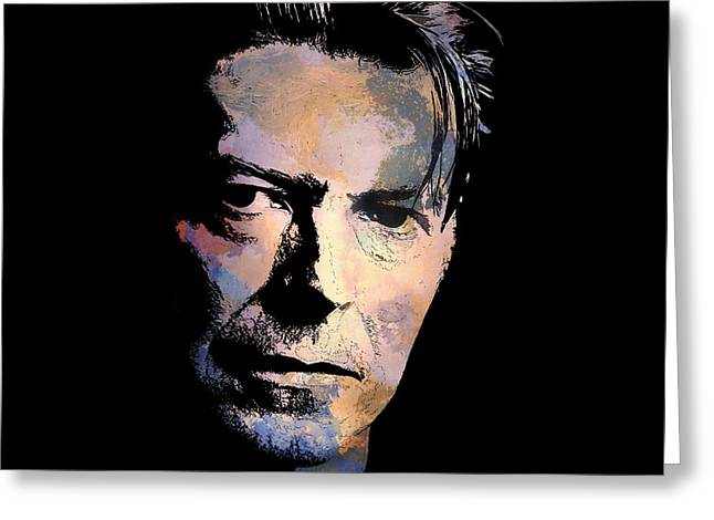Greeting Card featuring the painting Music Legend. by Andrzej Szczerski