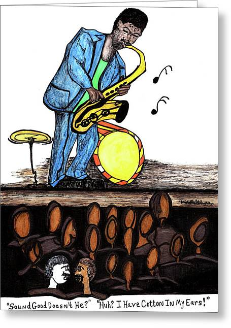 Music Man Cartoon Greeting Card