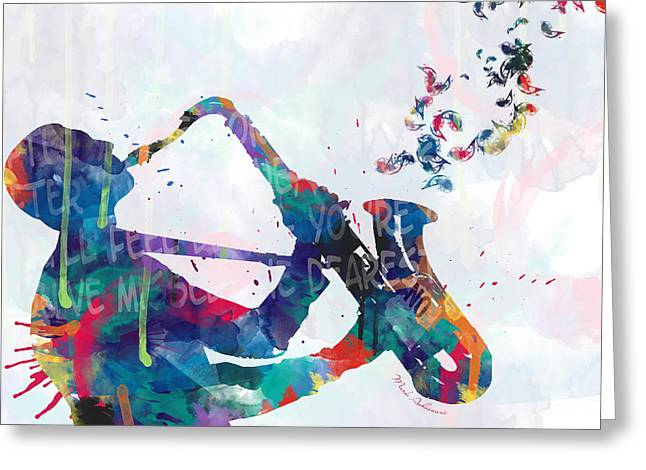 Music  Greeting Card by Mark Ashkenazi
