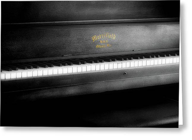 Music Merrifield Vintage Piano Greeting Card by Thomas Woolworth
