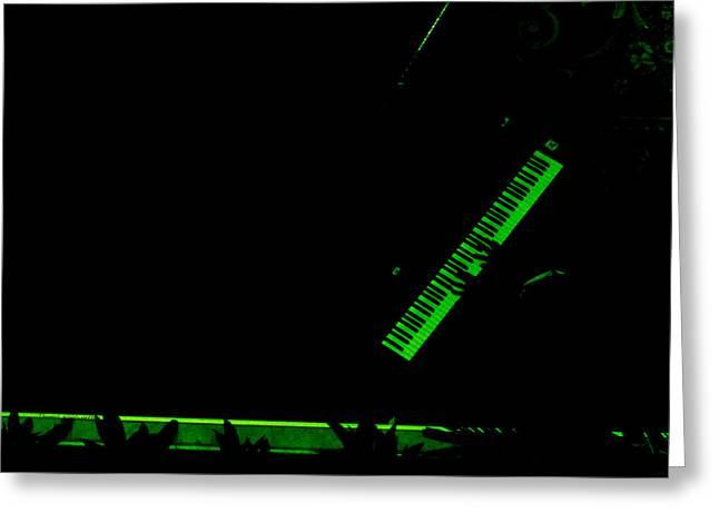 Music Night Club Piano Keys Pa Greeting Card