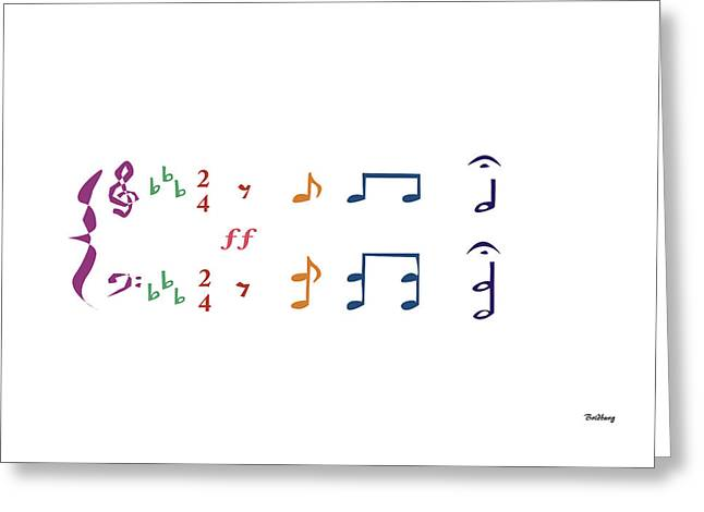 Music Notes 1 Greeting Card