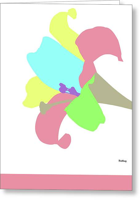 Greeting Card featuring the digital art Music Notes 12 by David Bridburg