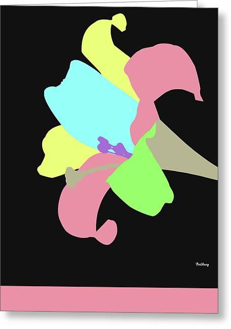 Greeting Card featuring the digital art Music Notes 13 by David Bridburg