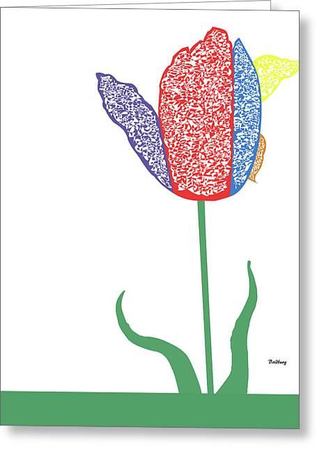 Greeting Card featuring the digital art Music Notes 3 by David Bridburg