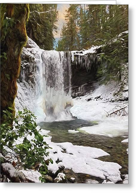 Greeting Card featuring the photograph Music Of Nature - Waterfall Art by Jordan Blackstone